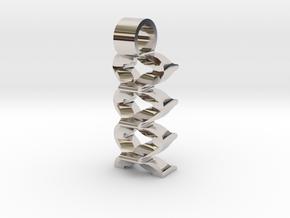 Virtual waves [pendant] in Platinum