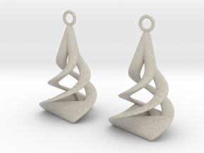 Twist earrings in Natural Sandstone