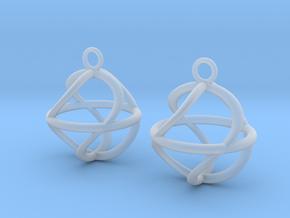 Twist ball earrings in Smooth Fine Detail Plastic