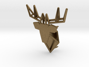 Deer Pin in Natural Bronze