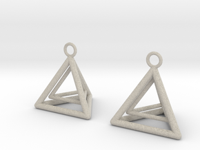 Pyramid triangle earrings type 9 in Natural Sandstone