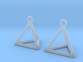 Pyramid triangle earrings in Smooth Fine Detail Plastic