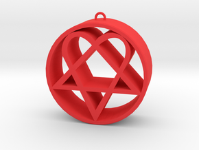 Heartagram in Red Strong & Flexible Polished