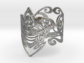 art nouveau ring in Natural Silver