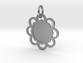 Custom Hexagon Pendant in Natural Silver (Interlocking Parts)
