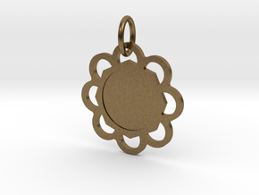 Custom Hexagon Pendant in Natural Bronze (Interlocking Parts)