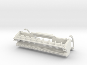1/64 Green SPFH windrow header in White Natural Versatile Plastic