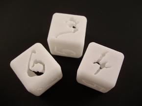 Hollow #'d Dice in White Natural Versatile Plastic
