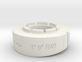 pie cut 1inch 9deg r40 in White Natural Versatile Plastic
