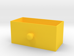 box for elecrical components 2 in Yellow Processed Versatile Plastic