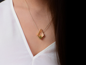 HIDDEN HEART Aurora, Pendant. Pure Elegance in 18K Gold Plated