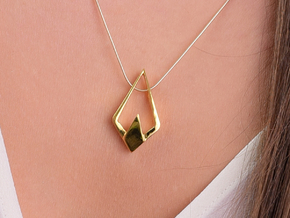HIDDEN HEART Sharp, Pendant. Pure Chic. in 18K Gold Plated
