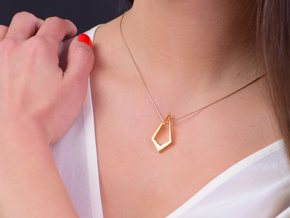 HIDDEN HEART Encounter, Pendant. Sharp Elegance. in 18K Gold Plated