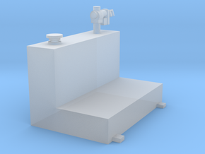 1/64 80 gallon L shape tank in Smooth Fine Detail Plastic