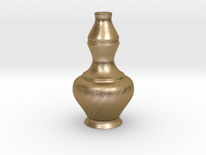 Labu Sayong Vase in Polished Gold Steel