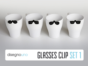 Party Accessories | Glasses (4 pz) in Black Strong & Flexible