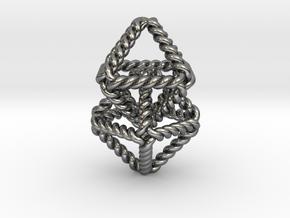 "Interlocking Twisted Octahedrons 1.2"" in Polished Silver (Interlocking Parts)"