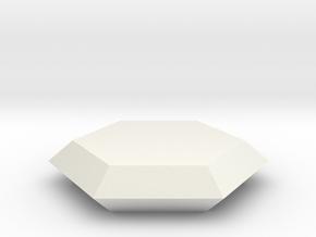 Beryl 3, 25 mm in White Natural Versatile Plastic