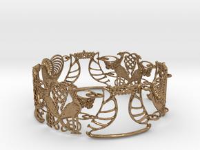 Art NOUVEAU Bracelet - Art Deco - Jugendstil in Natural Brass (Interlocking Parts)