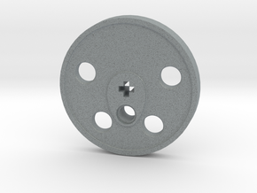 XXL Disc Driver - Blind, Large Counterweight in Polished Metallic Plastic