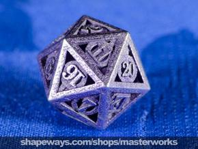 Deathly Hallows d20 in Smooth Fine Detail Plastic