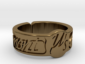 Moment Ring - Love Live in Polished Bronze