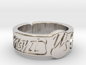 Moment Ring - Love Live in Rhodium Plated Brass