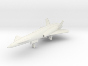 North American Aviation X-10 1/285 6mm in White Natural Versatile Plastic