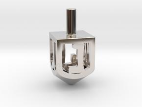 Dreidel (Spinner) in Platinum