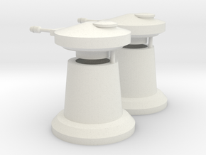 1/285th scale Laser turret (2 pieces) in White Natural Versatile Plastic