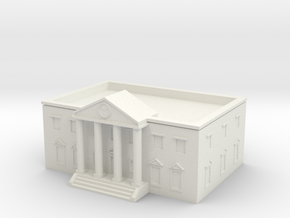 County Courthouse - Zscale in White Natural Versatile Plastic