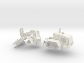 1/64 Small wheel loader- short reach in White Natural Versatile Plastic