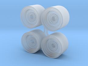 1/64 Wheel loader wheels in Smooth Fine Detail Plastic