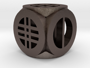 D6: Open Design Collection in Polished Bronzed Silver Steel
