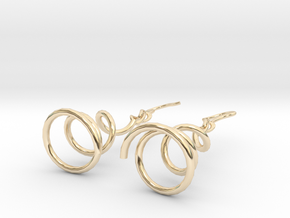 Earrings Twist 001 in 14K Yellow Gold