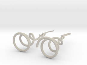 Earrings Twist 001 in Sandstone