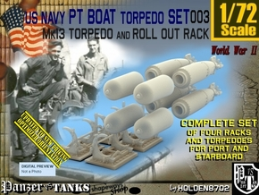1/72 Torpedo Mk13 W Rack For PT Boat Set003 in Smooth Fine Detail Plastic