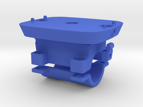 Locking Kinect mount with 25.4mm clamp in Blue Processed Versatile Plastic