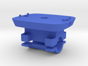 Locking Kinect mount with 19mm clamp in Blue Processed Versatile Plastic