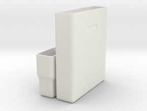 """Hard drive storage case for 2.5"""" 15mm drives in White Natural Versatile Plastic"""