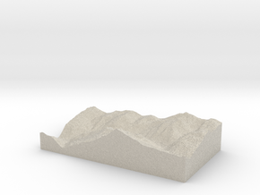Model of La Chiserette in Natural Sandstone