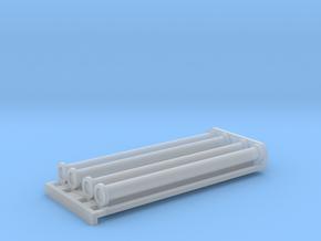 Saugschlauchsatz A 2,5m mit Rost - 1:120 TT in Smooth Fine Detail Plastic