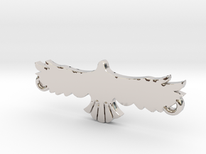 Swooping Hawk™ Charm in Rhodium Plated Brass