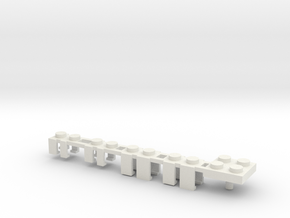 Building Block Interface for Action Figures: Set A in White Natural Versatile Plastic