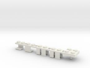 Building Block Interface for Action Figures: Set C in White Natural Versatile Plastic