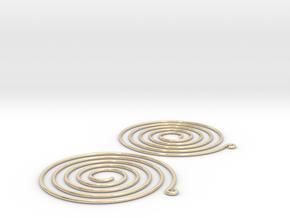 Earrings Spiral 001 in 14K Yellow Gold