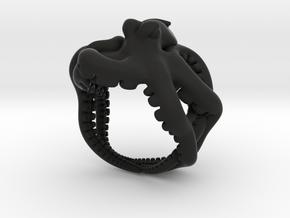 Octopus Ring2 19mm in Black Premium Versatile Plastic