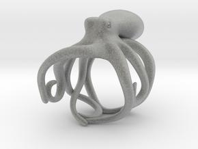 Octopus Ring 18mm in Metallic Plastic