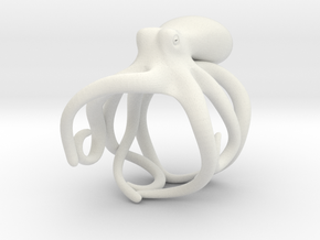 Octopus Ring 17mm in White Premium Versatile Plastic