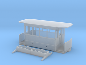 009 Corris Rly - Falcon Works tram carriage in Smooth Fine Detail Plastic